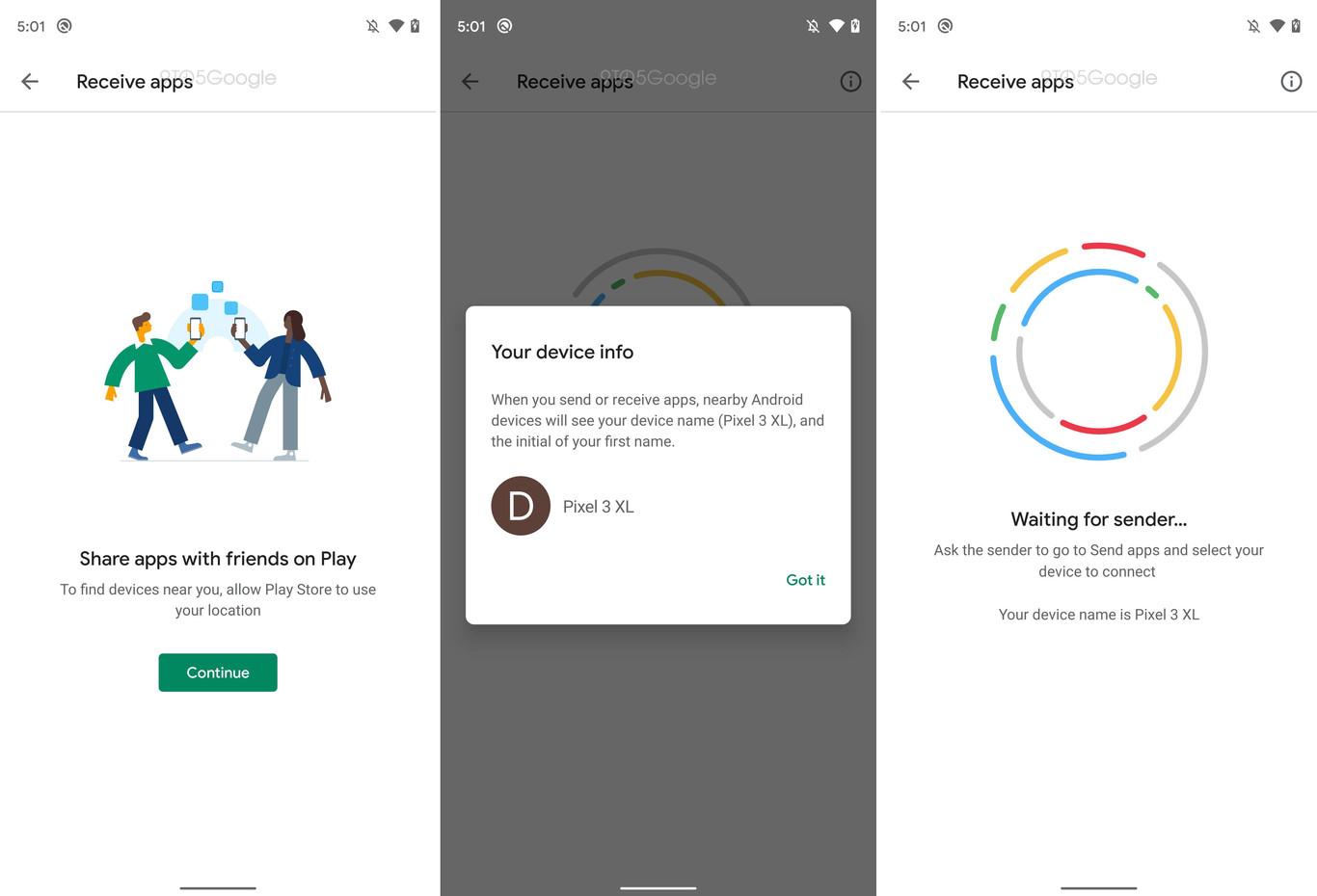 Recibir aplicaciones en Play Store