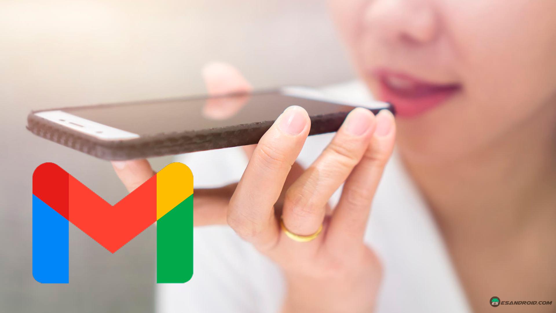 enviar audios en Gmail desde móvil