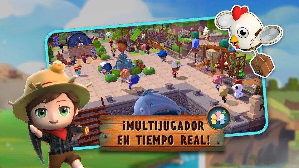 Pocket Pioneers cuenta con modo multijugador como Animal Crossing